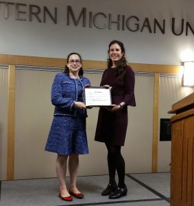 Book Award 2019 Prof Pearce receives certificate